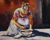 Portrait : Zapotec With Cochineal